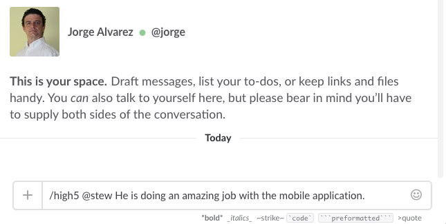 Show appreciation to your co-workers inside Slack